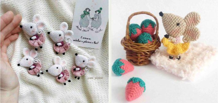 Tiny Mouse - Free amigurumi pattern | 335x710